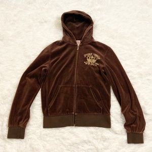 Juicy Couture Velour Brown Tracksuit Jacket
